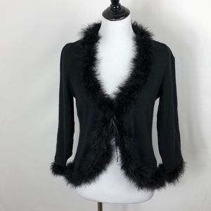 Moschino lingerie wool and angora feather cover up